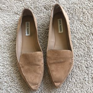 Steve Madden 9 beige suede flats loafers shoes